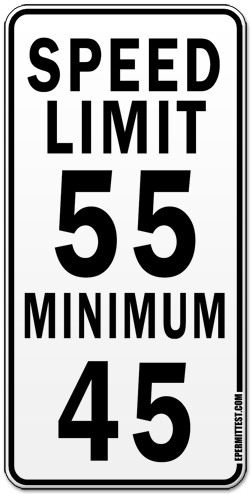 Speed Limit - Maximum & Minimum
