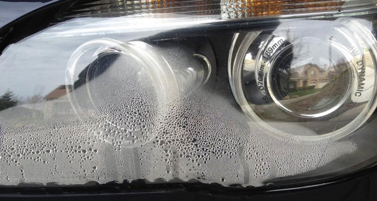 Condensation on headlights