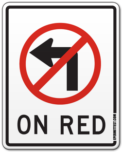 No Left Turn on Red