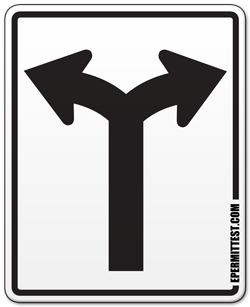 Turn Left or Right Road Sign