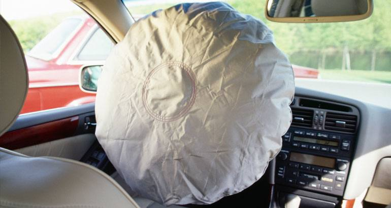 A deploying air bag can push your hands towards your face, causing injuries