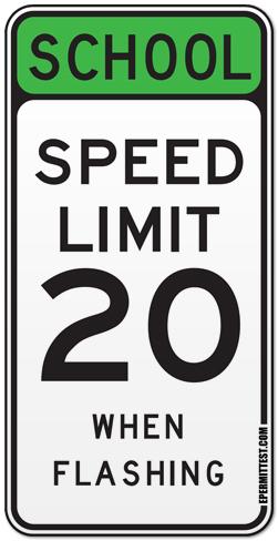 Speed Limit Lights Flashing