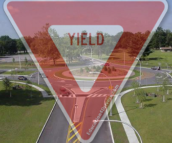 Yield to Traffic in The Roundabout