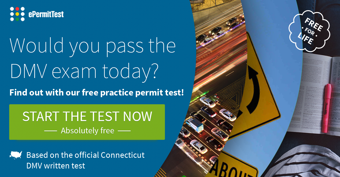 Connecticut Practice Permit Test (CT) 2017 | RULES & SIGNS