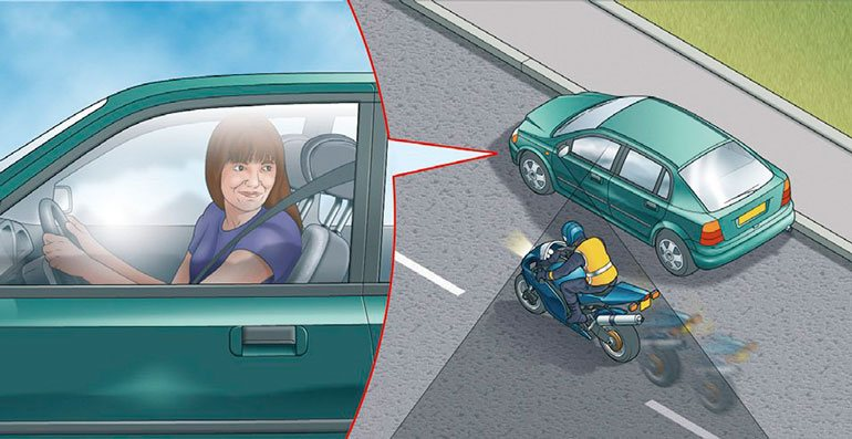 Check your blind spot for motorcycles
