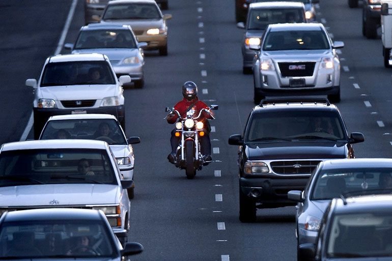 Lane splitting may be illegal in your state
