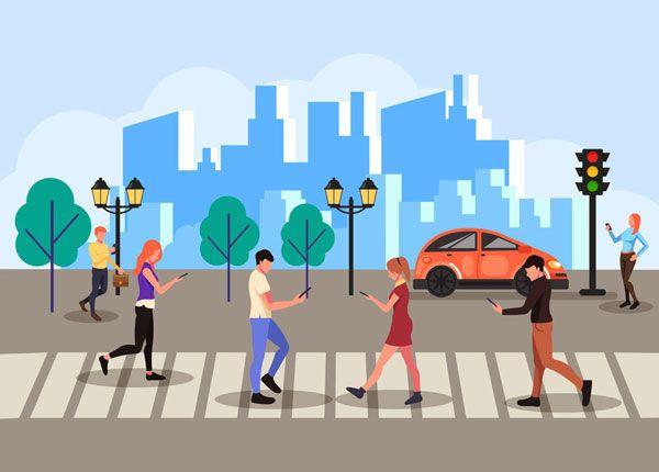 Compartir el Camino con Peatones