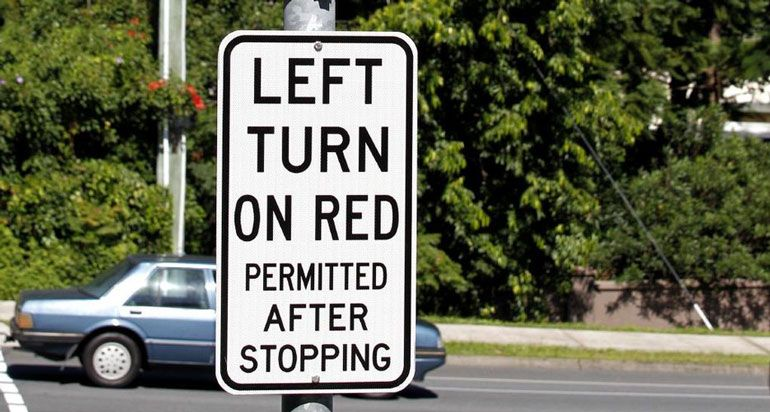 Left Turn on Red Permitted