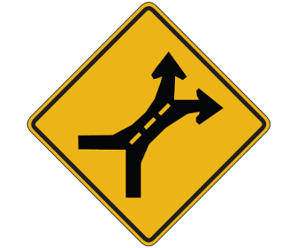 Weave Area Traffic Sign