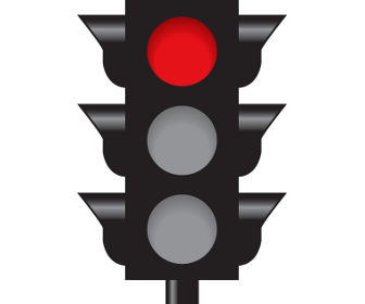 Intersection Controlled by a Steady Red Signal