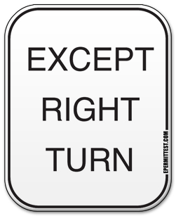 Stop Except Right Turn