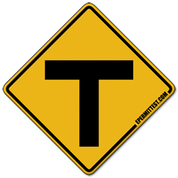 T Intersection | Warning Road Signs Y Intersection Sign