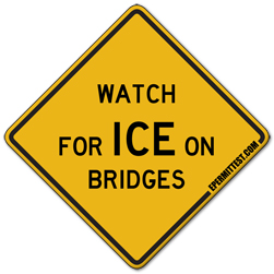 Watch for Ice on Bridges