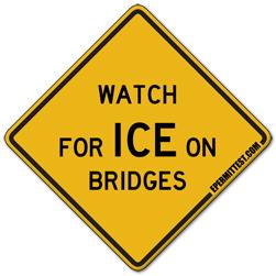 Watch for Ice on Bridges
