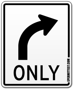 Turn Right Only