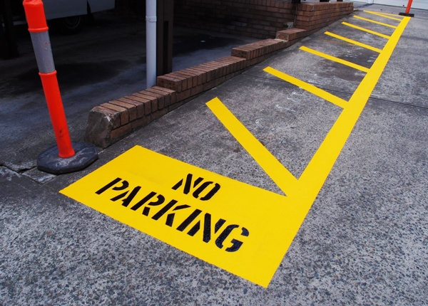 No Parking Road Markings