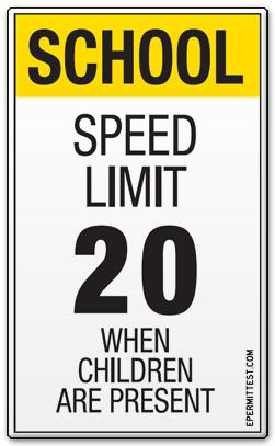Speed Limit - Children
