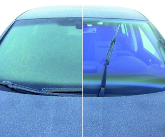 Clean your windshield to avoid glare and improve visibility