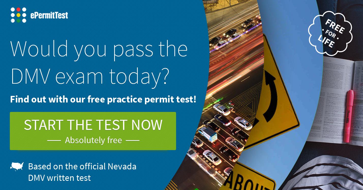 Road Signs Quiz >> Nevada Road Signs Practice Permit Test   2018 DMV EXAM