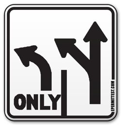 Lane Use Control Road Sign