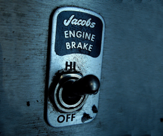 Switch to low gear to use engine braking