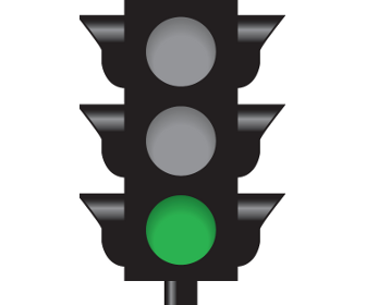 Intersection Controlled by a Green Signal
