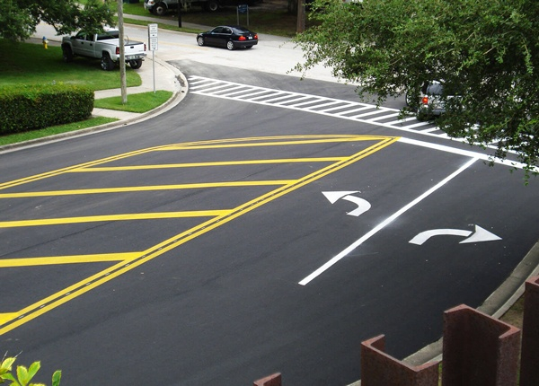 Pavement Markings at An Intersection
