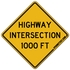 Highway Intersection Ahead