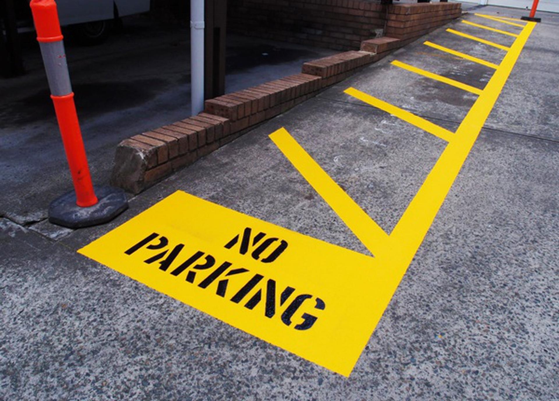 No Parking Road Markings