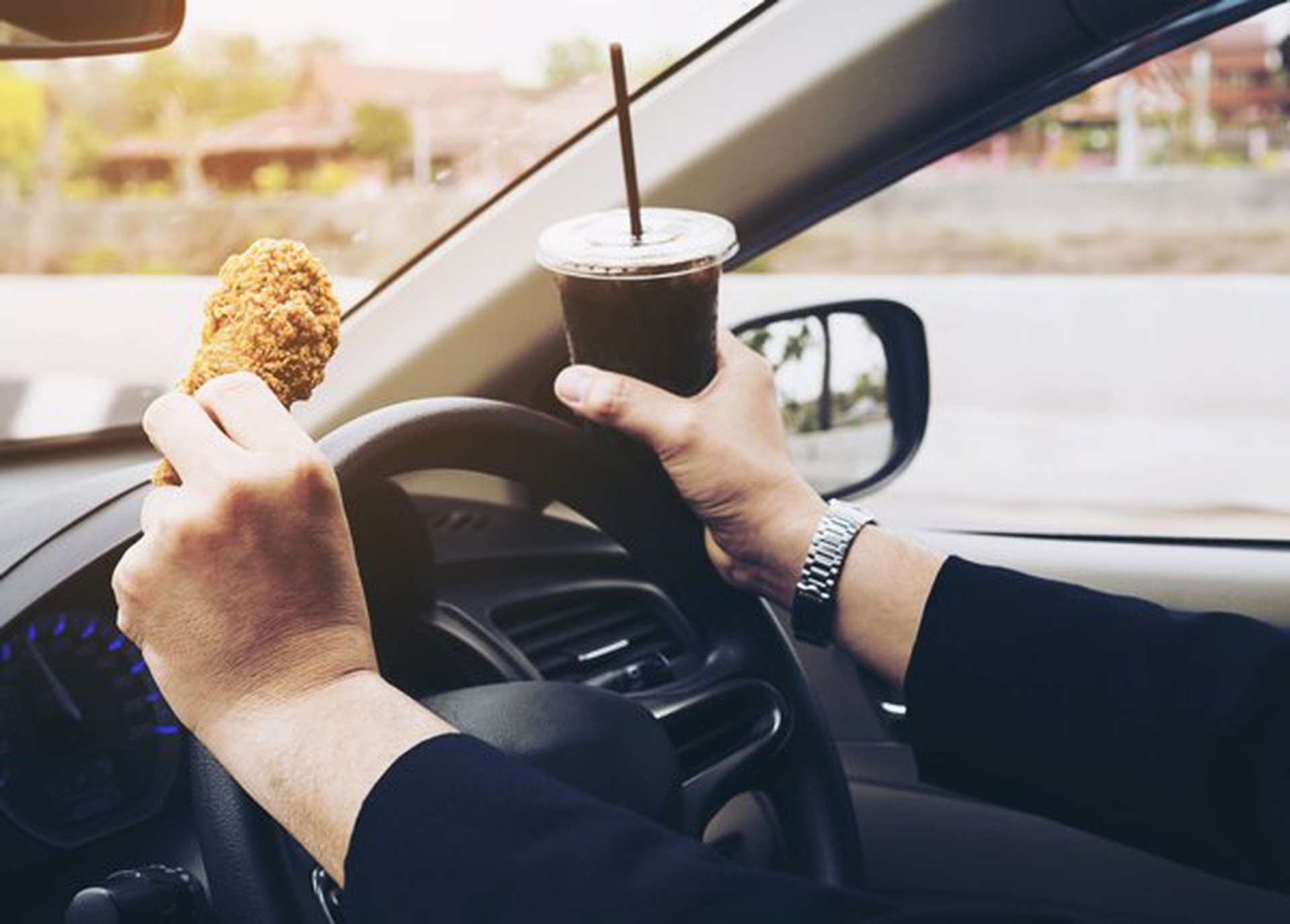 Eating and Drinking While Driving Can Be Distracting