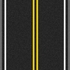 Double Solid Yellow Line