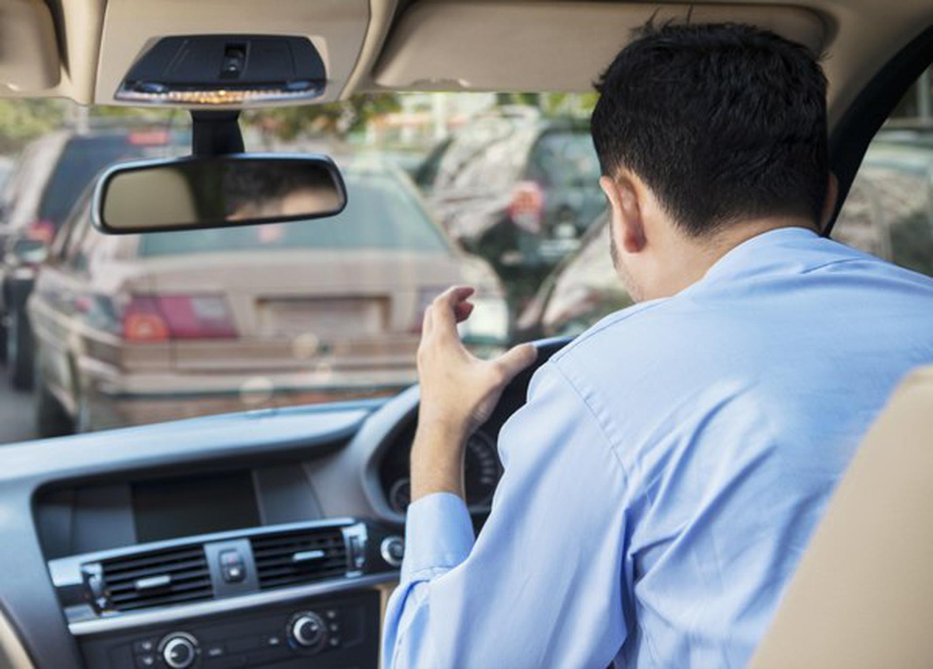 Aggressive Driver Stuck in Traffic